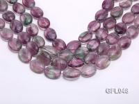 Wholesale 15x20mm Oval Multi-color Fluorite Beads Loose String GFL048