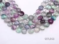 Wholesale 15mm Flatly Round Colorful Fluorite Beads Loose String GFL049
