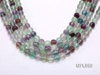 Wholesale 10mm Round Colorful Faceted Fluorite Beads Loose String GFL050