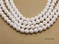Wholesale 12mm Round White Tridacna Beads Loose String GTS006