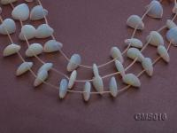 Wholesale 18mm Heart-shaped Milky Moonstone Beads Loose String GMS016