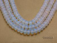 Wholesale 8x14mm Wheel-shaped Milky Moonstone Beads Loose String GMS023