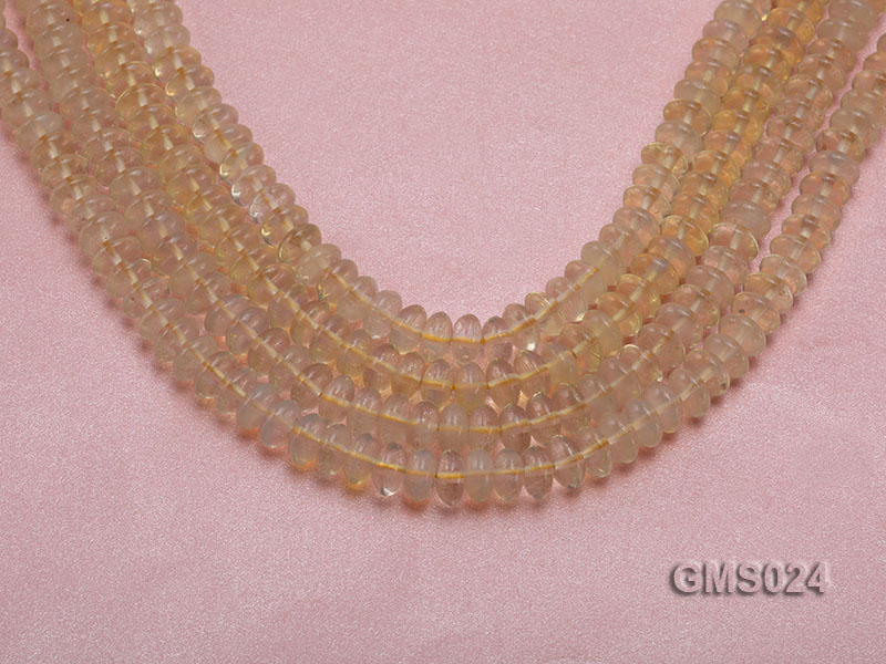 Wholesale 5x8mm Wheel-shaped Light-yellow Moonstone Beads Loose String big Image 1