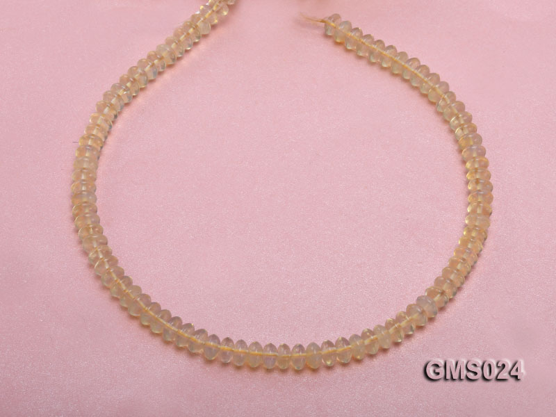 Wholesale 5x8mm Wheel-shaped Light-yellow Moonstone Beads Loose String big Image 4