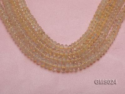 Wholesale 5x8mm Wheel-shaped Light-yellow Moonstone Beads Loose String GMS024 Image 1