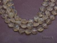 Wholesale 16mm Button-shaped Light-yellow Moonstone Beads Loose String GMS025