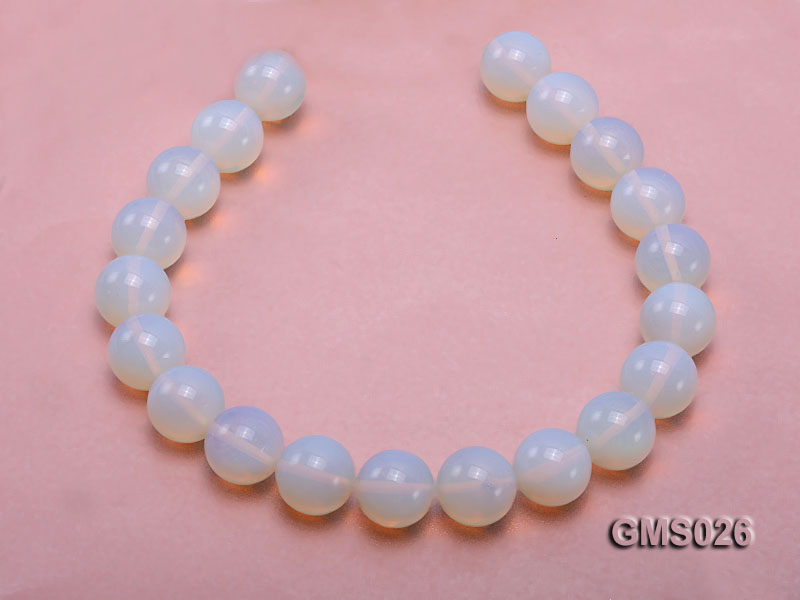 Wholesale 20mm Round Milky Moonstone Beads Loose String big Image 4