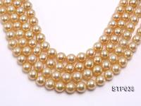 Wholesale 12-16mm Round Golden South Sea Pearl Loose String STP038