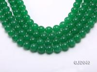 Wholesale 12mm Round Green Malay Jade Beads Loose String GJD040