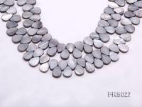 Wholesale 9x13mm Drop-shaped Grey Freshwater shell Pieces Loose String FRS027