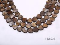 Wholesale 15mm Heart-shaped Brown Freshwater shell Pieces Loose String FRS028