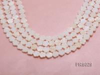 Wholesale 10mm Flower-shaped White Freshwater shell Pieces Loose String FRS029
