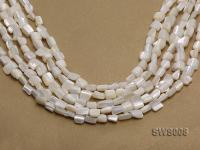 Wholesale 6x8mm Irregular White Seashell Beads Loose String SWS008
