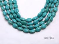 Wholesale 13x18mm Oval Blue Turquoise Beads Loose String TQW145