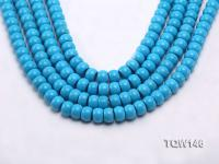 Wholesale 8x12mm Flatly Round Blue Turquoise Beads Loose String TQW146