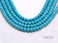 Wholesale 9x12mm Flatly Round Blue Turquoise Beads Loose String TQW147