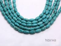 Wholesale 8x14mm Oval Blue Turquoise Beads Loose String TQW149