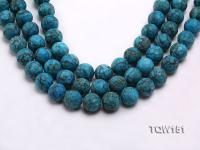Wholesale 15.5mm Round Blue Turquoise Beads Loose String TQW151