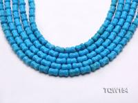 Wholesale 8x12mm Pillar-shaped Blue Turquoise Beads Loose String TQW154
