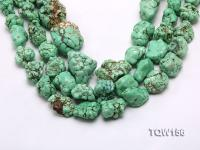 Wholesale 18x25mm Irregular Green Turquoise Pieces Loose String TQW156