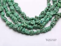 Wholesale 14x18mm Irregular Green Turquoise Beads Loose String TQW157