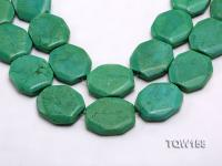 Wholesale 30x35mm Button-shaped Green Turquoise Beads Loose String TQW158