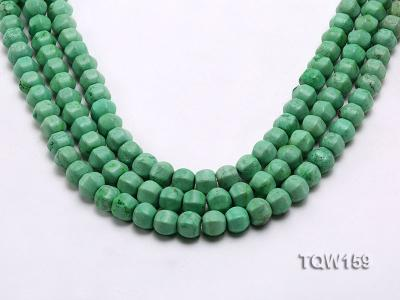 Wholesale 9x10mm Irregular Green Turquoise Beads Loose String TQW159 Image 1