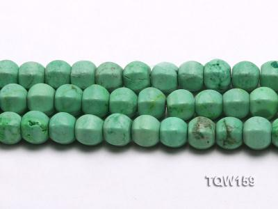 Wholesale 9x10mm Irregular Green Turquoise Beads Loose String TQW159 Image 2