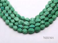 Wholesale 12x17mm Irregular Green Turquoise Beads Loose String TQW161