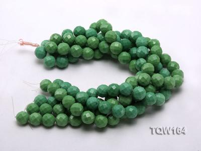 Wholesale 16mm Round Green Faceted Turquoise Beads Loose String TQW164 Image 3