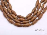 Wholesale 10x30mm Oval Brown Agate String  GAG395