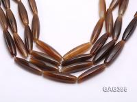 Wholesale 10x40mm Brown Bar-shaped Agate String GAG396