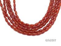 Wholesale 6x12mm Red Oval Agate Beads String  GAG397