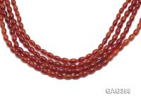 Wholesale 6x10mm Red Oval Agate String GAG398