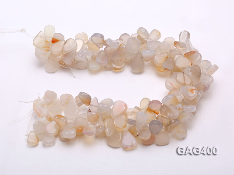 Wholesale 12x16mm Drop-shaped Agate Pieces String  big Image 3