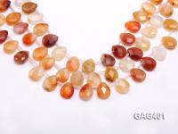 wholesale 12x16mm  drop shape agate strings GAG401