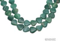 wholesale 22mm Heart-shaped agate pieces strings GAG402