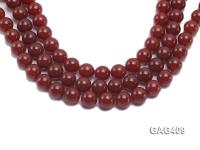 Wholesale 14mm Red Round Agate Beads String  GAG409