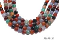 Wholesale 12mm Round Agate Beads String  GAG411