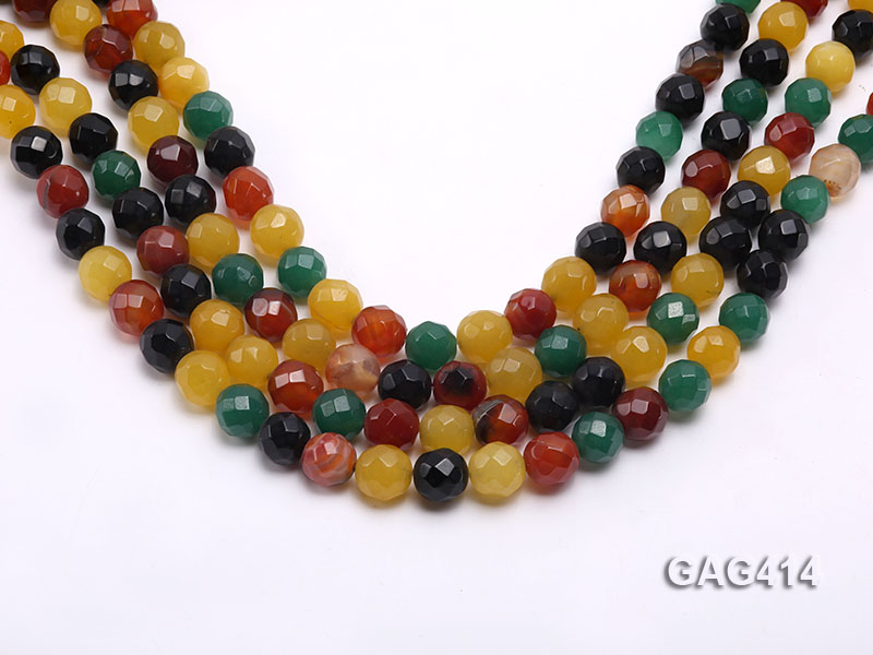 Wholesale 12mm Round Faceted Agate Beads String  big Image 1