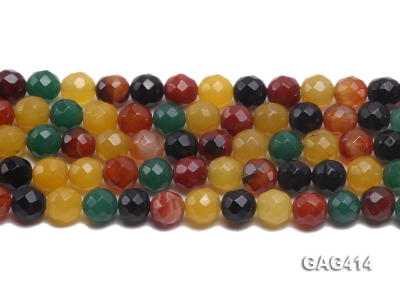 Wholesale 12mm Round Faceted Agate Beads String  big Image 2