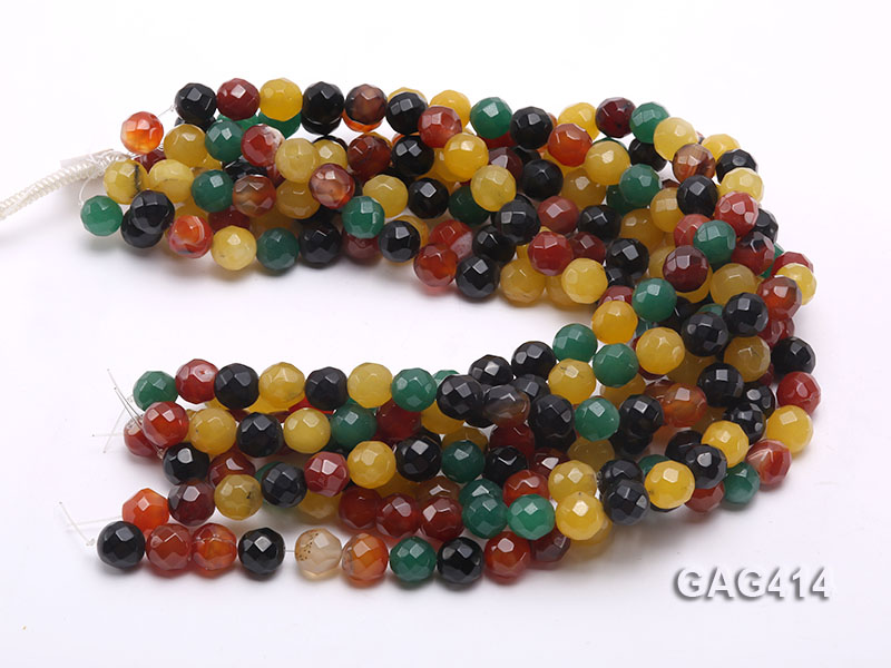 Wholesale 12mm Round Faceted Agate Beads String  big Image 3