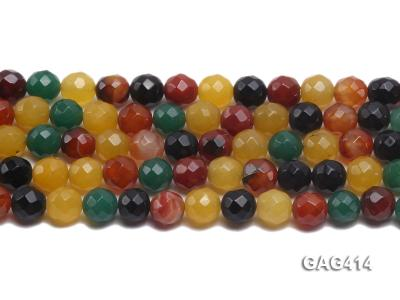 Wholesale 12mm Round Faceted Agate Beads String  GAG414 Image 2