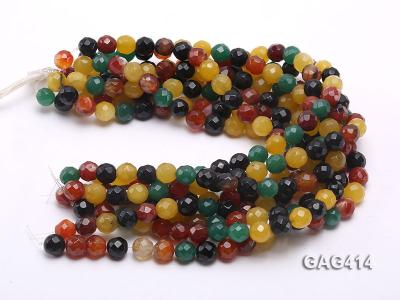 Wholesale 12mm Round Faceted Agate Beads String  GAG414 Image 3