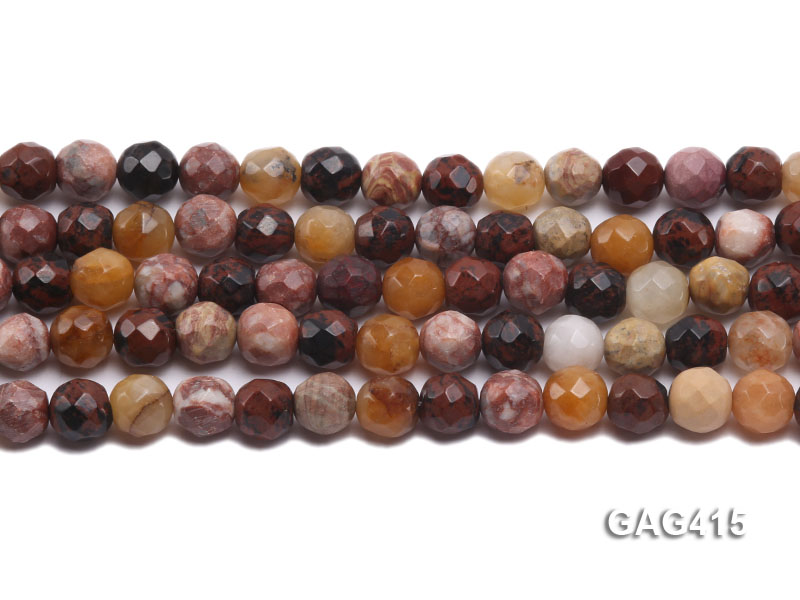 Wholesale 10mm Round Faceted Agate Beads String  big Image 2