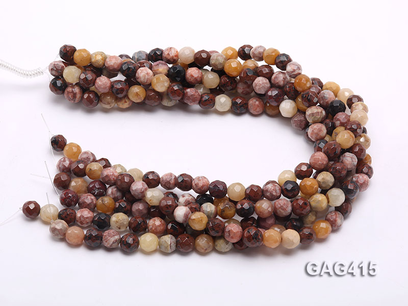 Wholesale 10mm Round Faceted Agate Beads String  big Image 3