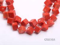 Wholesale 19mm Cubic Orange Coral Beads Loose String CRW151
