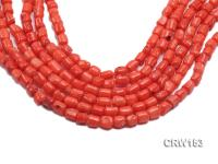 Wholesale 7x9mm Irregular Orange Coral Beads Loose String CRW153