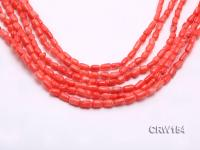 Wholesale 4x8mm Irregular Orange Coral Beads Loose String CRW154