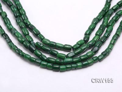 Wholesale 8x10mm Pillar-shaped Green Coral Beads Loose String CRW155 Image 1